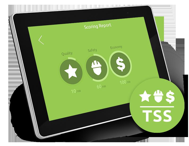 Tenstar Scoring Sytem, een uniek score systeem bestemd voor leeroptimalisatie van de simulator.